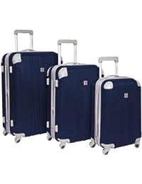 "Newport 3-Piece Hardside Spinner Luggage Set, Navy (21""/24""/28"")"