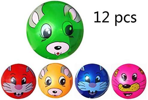 12 Pcs Juguete De Pelota De Playa De Balon 22CM (Conejo): Amazon ...