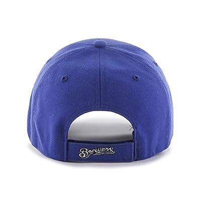 '47 MLB Milwaukee Brewers Juke MVP Adjustable Hat, One Size, Royal-Alternate