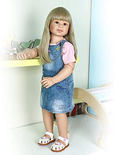 87CM Toddler Reborn Doll Girl Real Size BJD Reborn Baby Dolls Child Model Stand