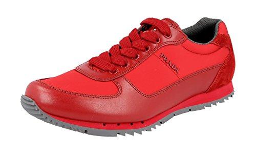 Prada Menns 4e2968 Skinn Sneaker