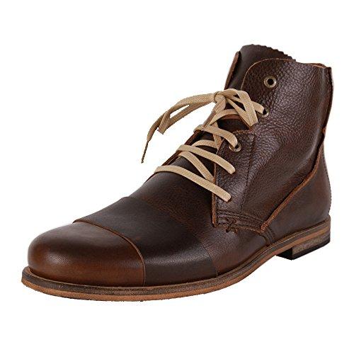 HUB Lomu Leather Dark Brown Brown