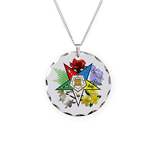 CafePress - Eastern Star Floral Emblems - Charm Necklace with Round Pendant