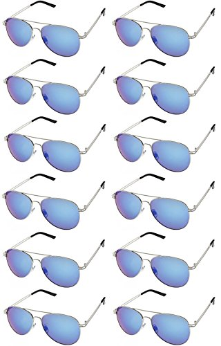 AVIATOR SUNGLASSES - Classic & Stylish Retro Sunglasses Bulk Wholesale (12 Pack) by Sunscape
