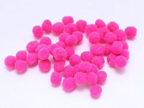 Pelota de fieltro (5 mm) 50 piezas Pasión rosa: Amazon.es: Hogar