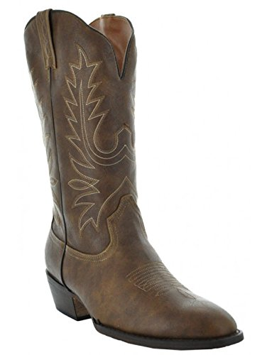 Country Love Boots Round Toe Women's Cowboy Boots W1001-1002 (7.5, Brown) ()