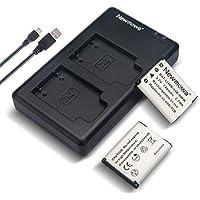 Newmowa Li-42B Battery (2 Pack) and Dual USB Charger Kit for Olympus Li-42B, Li-40B and Olympus Stylus 1040, 1050W, 1060, 1070, 1200, 7000, 7010, 7020, 7030, 7040, Tough 3000, TG-310, TG-320, VR310, VR320, VR330 Digital Camera