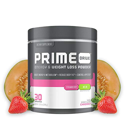 - Complete Nutrition Prime Drive Energy & Weight Loss Powder, Strawberry Melon, Increase Energy, Boost Metabolism, Fat Burner, Appetite Suppressant, 10.16oz (30 Servings)