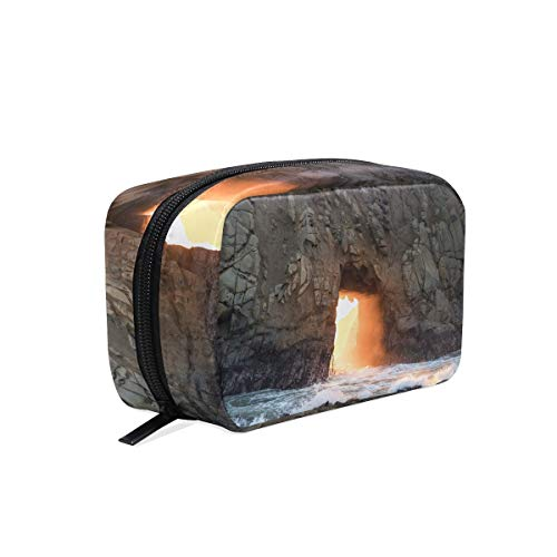 Cosmetic Makeup Bag Pouch Landscape Rock Cave Formation Geology Clutch]()