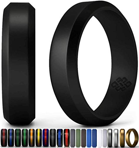 Silicone-Wedding-Ring-Band-for-Men-Women-Enhanced-Comfort-Superior-Non-Bulky-Rubber-Rings-Flexible-No-Metal-Safe-for-Firefighter-Athletic-Husband-Wife-Sports-Designer-Style-Premium-Quality