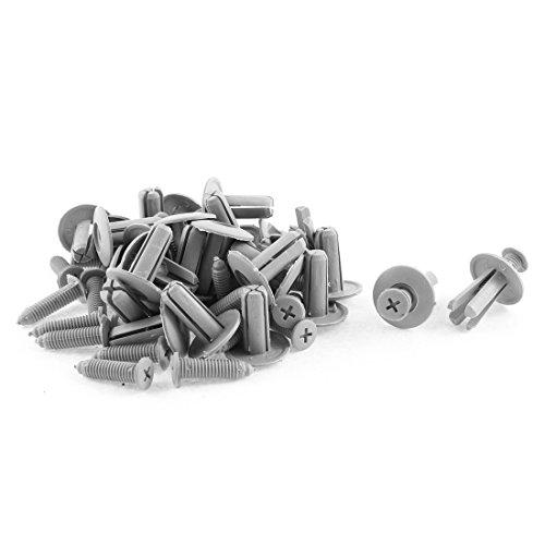 uxcell a15092500ux0307 30 Pcs 20mm x 8mm Gray Plastic Push-Type Trim Clip, Pack (97 Jetta Trim)