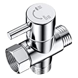 CACASO 100% Solid Brass Shower Arm Diverter,G 1/2 3 Way Shower Diverter valve For Hand Held Showerhead and Fixed Spray Head Diverter Polished Chrome