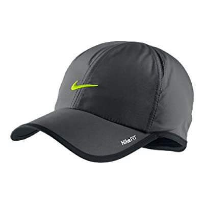 Nike Unisex Feather Light Tennis Hat, Charcoal/Volt by NIKE