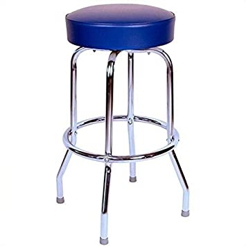 Richardson Seating 1950s Floridian Swivel Stool, Blue, 24