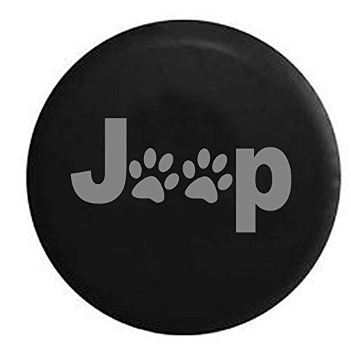Stealth - Jeep Paw Prints Dog Lover Spare Tire Cover Black 32-33 in