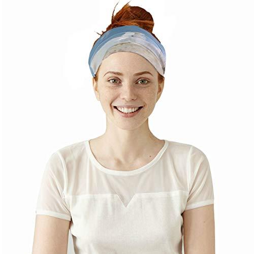 Lexav Run Rearing Forward Race Horse Elastic Headbands Head Wrap Shawl Sports Sweatband Face Mask Magic Scarf Hair Accessories Bands Ties for Women Men Girls Running Workout Fitness Yoga