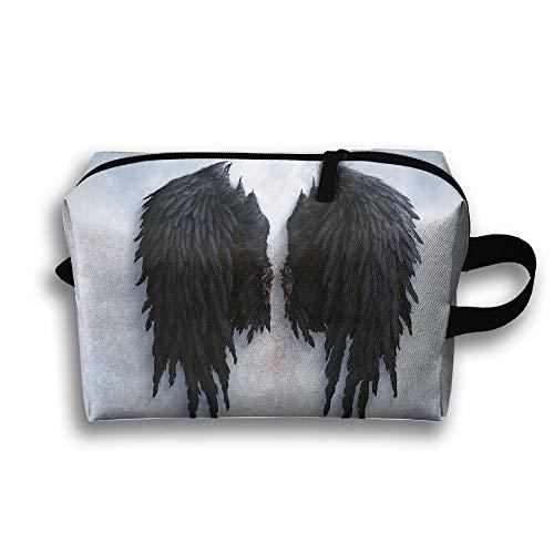 Angel Wings Creative Cosmetic Bags Makeup Organizer Bag Pouch Zipper Purse Handbag Clutch Bag