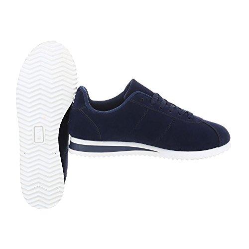 foncé Bleu Ital Plano bajas mujer Zapatos Zapatillas 187 para AB Design Zapatillas 874zO