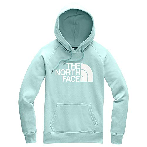(The North Face Women's Half Dome Pullover Hoodie, Windmill Blue/TNF White,)