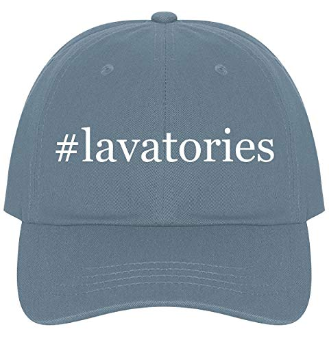 (The Town Butler #Lavatories - A Nice Comfortable Adjustable Hashtag Dad Hat Cap, Light Blue)