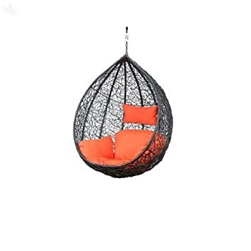 Carry Bird Outdoor Furniture Single Seater Swing, Beautiful Brown Color Hanging Swing Without Stand