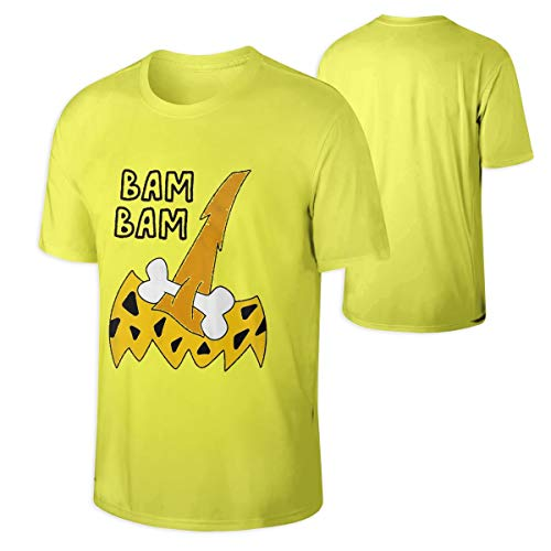 Man's Bam Bam Costume Halloween Funny Family Beautiful Tshirts Yellow