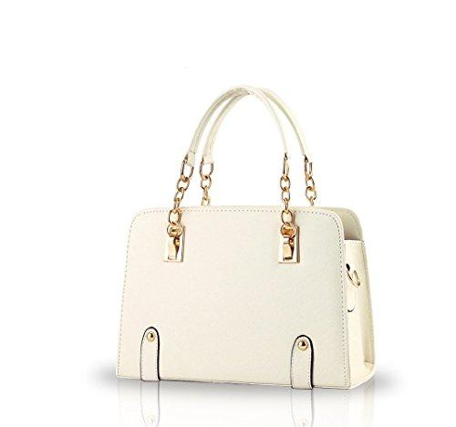 NICOLE&DORIS nuevas mujeres del bolso de hombro cadena de moda bolsa de mensajero del monedero Creamy-White