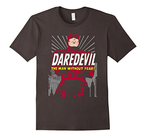 Marvel Daredevil The Man Without Fear! Retro Graphic T-Shirt