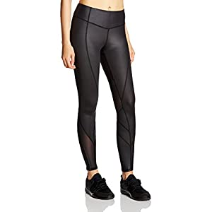 7Goals Women's Yoga Pants Tummy Control Mesh Workout Legging