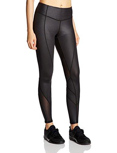 7Goals Women's Mesh Patch Luster Sports Legging With Hidden Zipper