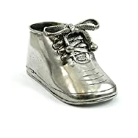 Class Newborn gift for the birth and baptism of a child or a girl. Customized metal shoe with engravings. Made in Italy CAVAGNINI
