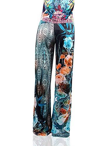 Il color Farbe Larghi Pantaloni Vita Donna Stampati Elastici Donne Da Classiche Fantasia Size Tempo In Per M Lunghi O Libero PwwdZqa