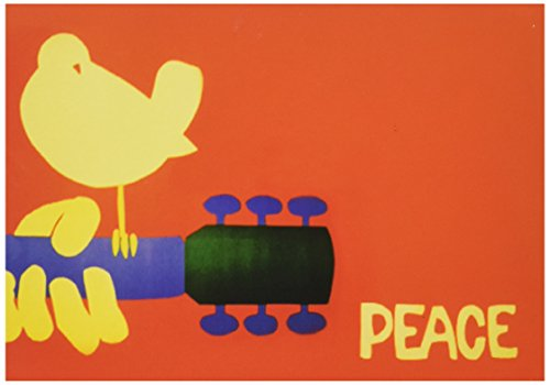 Nouvelles Images Peace Guitar Greeting Cards - 15 cards/16 ()