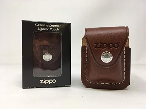 (Zippo Lighter Gift Set w/ Brown Leather Pouch LPGS-LPCB)