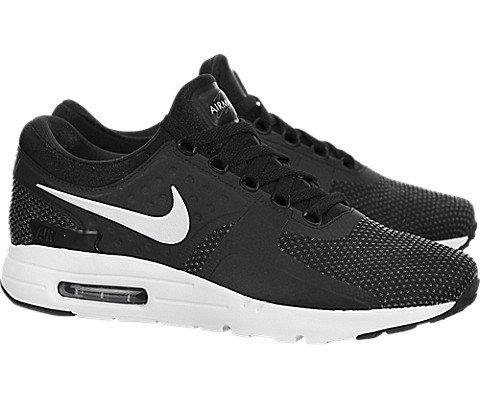 buy online 22d0a c48c6 Galleon - Nike Men s Air Max Zero Essential Black White Dark Grey Running  Shoe 11 Men US