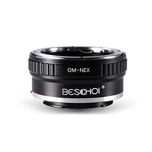 Beschoi Pro Lens Mount Adapter for Olympus OM Lens to Sony NEX E-Mount Camera Body, Fits NEX-3 NEX-3C NEX-3N NEX-5 NEX-5C NEX-5N NEX-5R NEX5T NEX6 NEX7