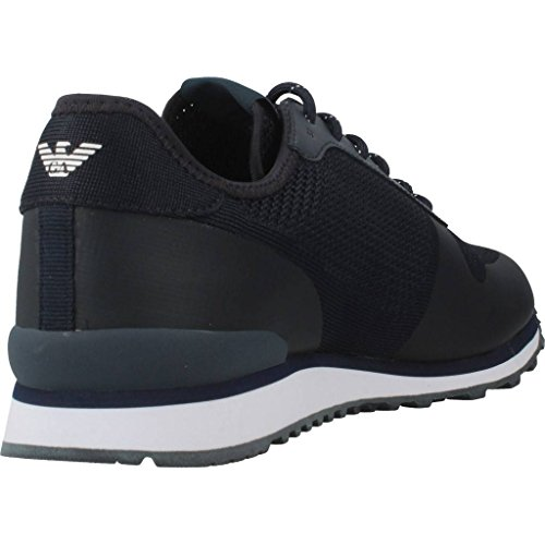 Armani Jeans Knit Runner Homme Baskets Mode Bleu  Amazon.fr  Chaussures et  Sacs 33c0fb54854