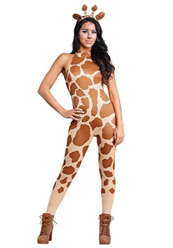 Sexy Giraffe Women's Costume Medium Brown