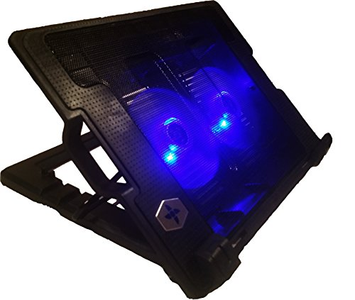 laptop desk with fan and light - 6