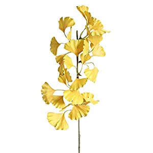 Iusun Artificial Flower Ginkgo Leaves Green Plant Floral Bridal Wedding Bouquet Party Festival Holiday Hanging Decorations Mother's Day Valentines Gift Hot Ornament 101