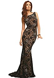 Women's Authentic Beaded Evening Prom Gown