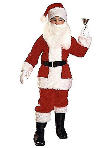 Plush Santa Suit Costume - Medium (Boys Santa Claus Costume)