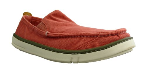 Timberland TBL-1 - Mocasines de lona para hombre, color rojo, talla 46: Amazon.es: Zapatos y complementos