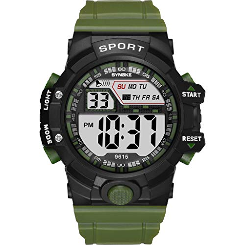 LUCAMORE Mens Military Multifunction Digital LED Watch Electronic Waterproof Alarm Quartz Sports Watch ()