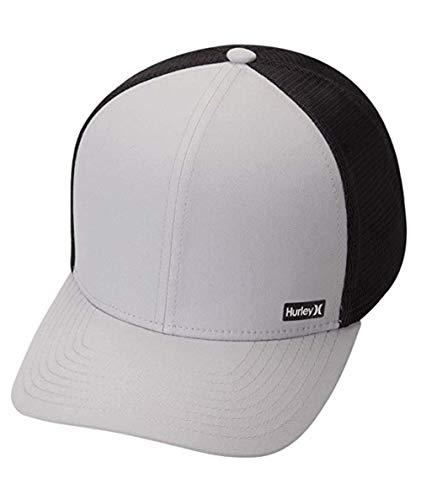 Hurley Men's League Dri-Fit Snapback Baseball Cap, Wolf Grey, Qty
