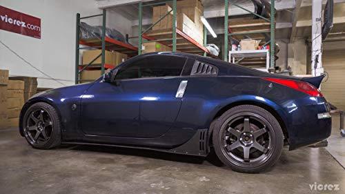 Pack of 2 runmade Black Carbon Fiber Headlight Eyelids Covers for 2003-2008 Nissan 350Z Fairlady Z Z33