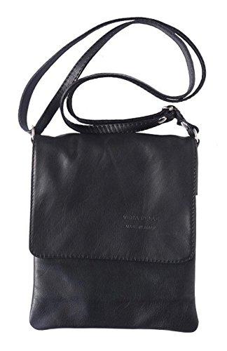 (LaGaksta Ashley Very Small Italian Soft Leather Shoulder Crossbody Bag Black)