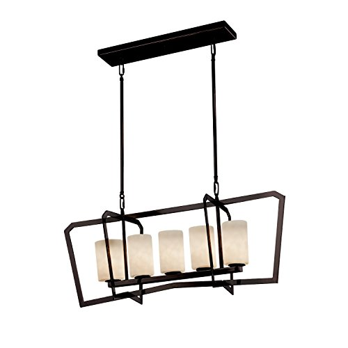Justice Design Group Lighting CLD-8015-10-DBRZ Clouds Aria 5-Light Chandelier, Dark Bronze (Aria Light 10 Chandelier)