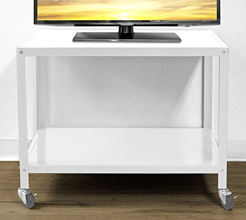 Shop Cabinet Stand (Urban Shop Rolling TV Cart, White)