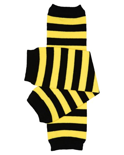 juDanzy Bumblebee Bee Black and Yellow Stripe Baby and Toddler Boys and Girls Leg Warmers]()